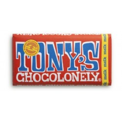 Tony's Chocolonely Melkchocoladereep 180gr