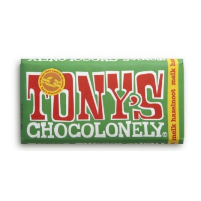 Tony's Chocolonely Melk Hazelnoot 180gr