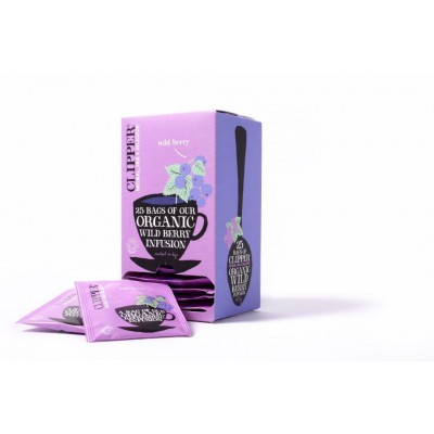 Clipper Fairtrade Infusion Wild Berry BIO 6 x 25 zakjes
