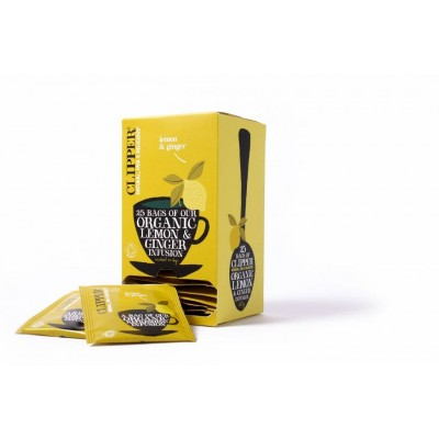 Clipper Fairtrade Infusion Lemon & Ginger BIO 6 x 25 zakjes