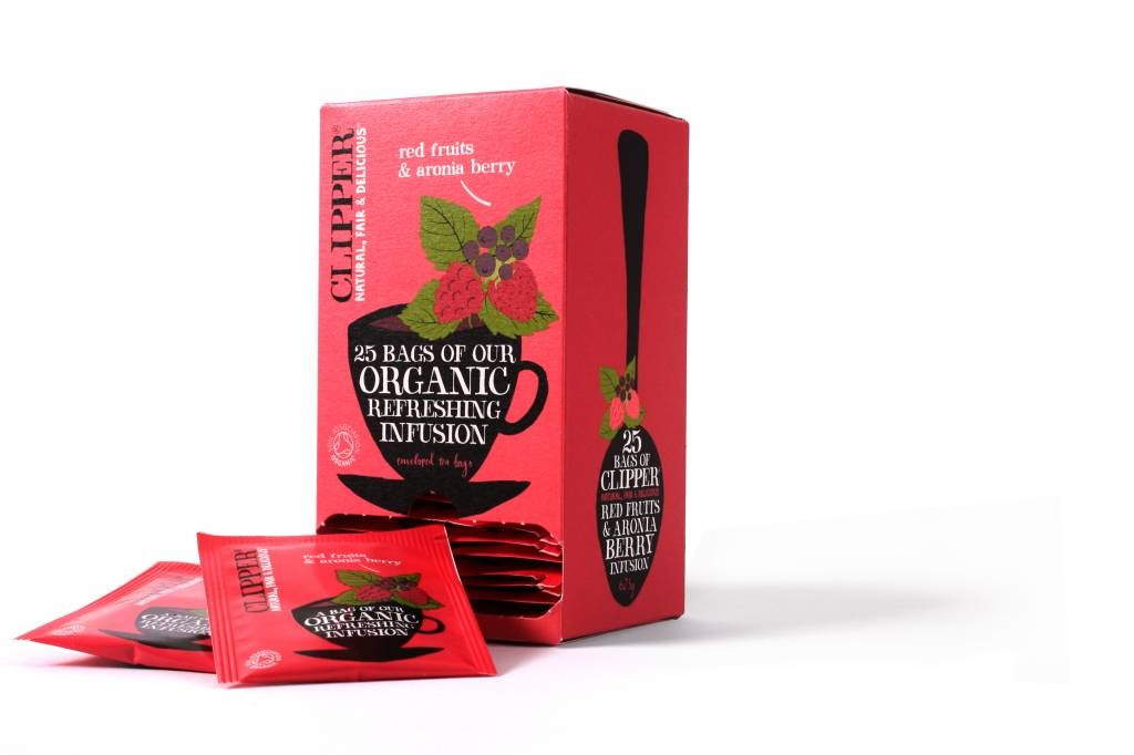 Clipper Fairtrade Infusion Red Fruits & Aronia BIO 6 x 25 zakjes
