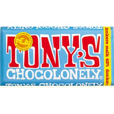 Tony's Chocolonely donkere melk 42%180gr