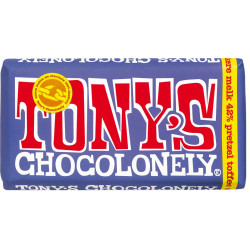 Tony's Chocolonely donkere melk pretzel toffee 180gr