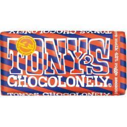 Tony's Chocolonelydonkere melk rogge zeezout 180gr