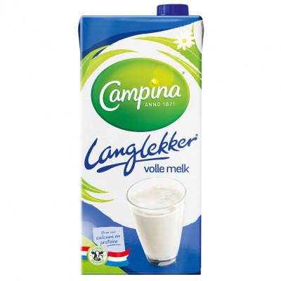 Friesche Vlag Lang lekker volle melk, pak 1 liter